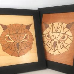 tableau animaux géométriques chouette vue d'ensemble