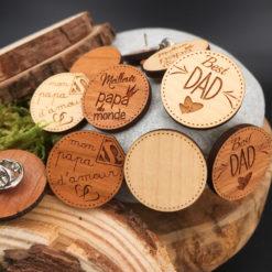 Pin's bois personnalisé