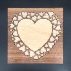 coffret 100% personnalisable coeur/coeur