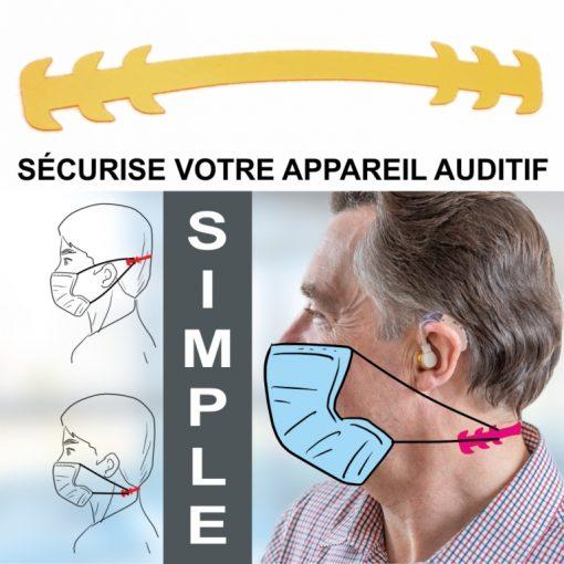 attaches masques et appareil auditif