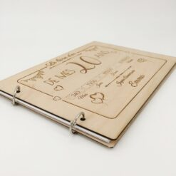 livre d'or en bois personnalisable 20 ans profil