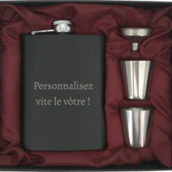 coffret flasque noire personnalisez le votre