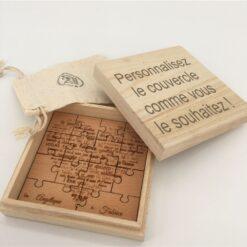boite puzzle couvercle personnalisable