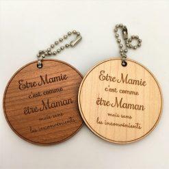 porte-clés personnalisé etre mamie ensemble