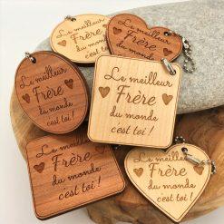 porte-clés bois Meilleur Frère ensemble