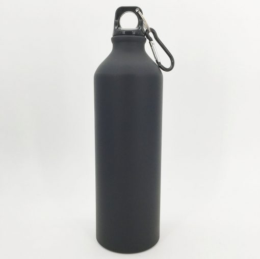gourde noire aluminium 800ml