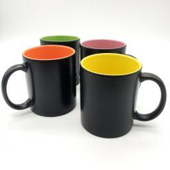 mug céramik noir ensemble